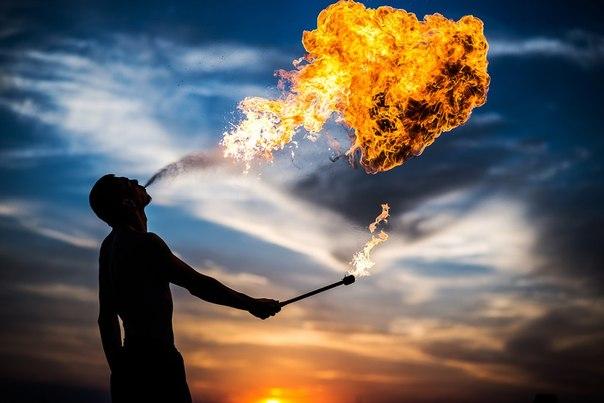 Как сделать огонь в небе 522