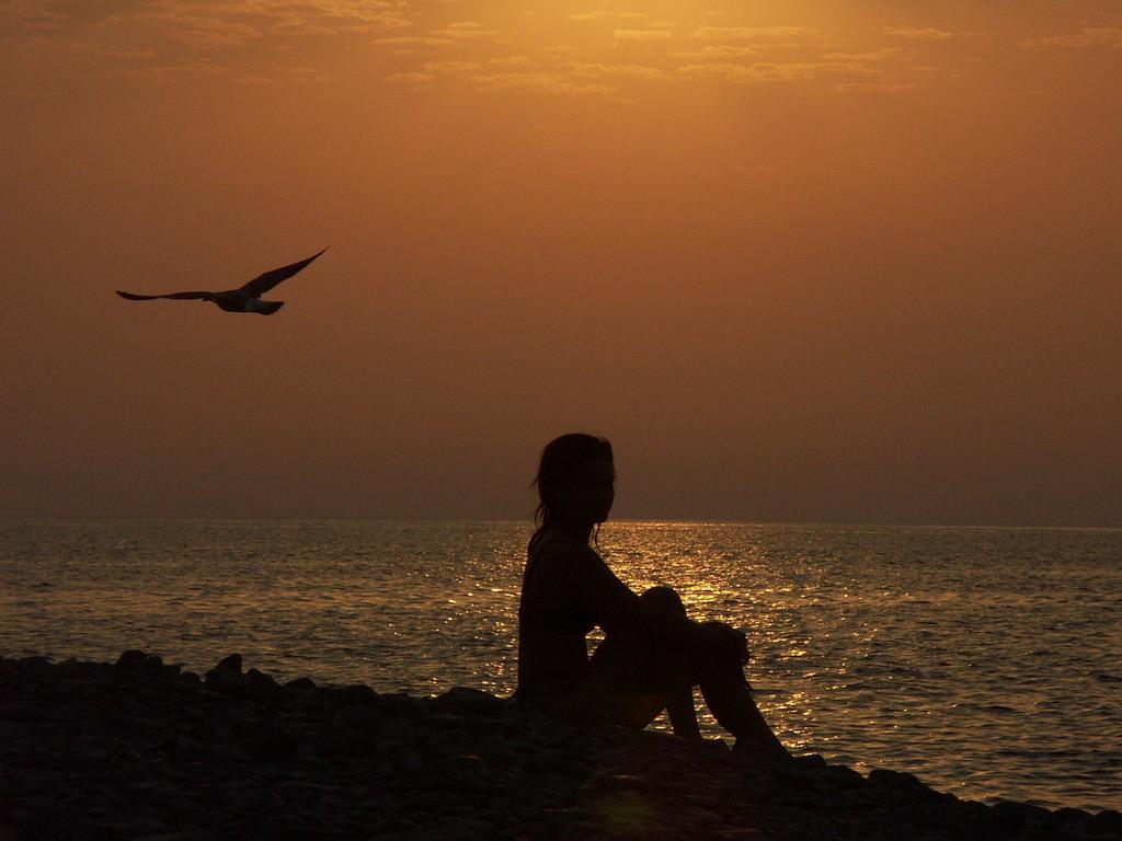 Фото на берегу моря закат