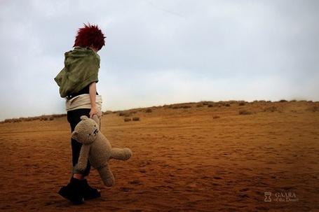 Фото Косплей маленький Gaara / Гаара по аниме Naruto / Наруто срдеи пустыни