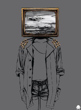 Фото Рисунок векторной девушки, у которой телевизор с помехами, вместо головы (© Seona), добавлено: 17.05.2013 00:23