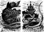 Фото Рыба - Кит из сказки Конек - Горбунок, иллюстратор Дмитрий Дмитриев; Добавлено: 18.05.2013 07:02...