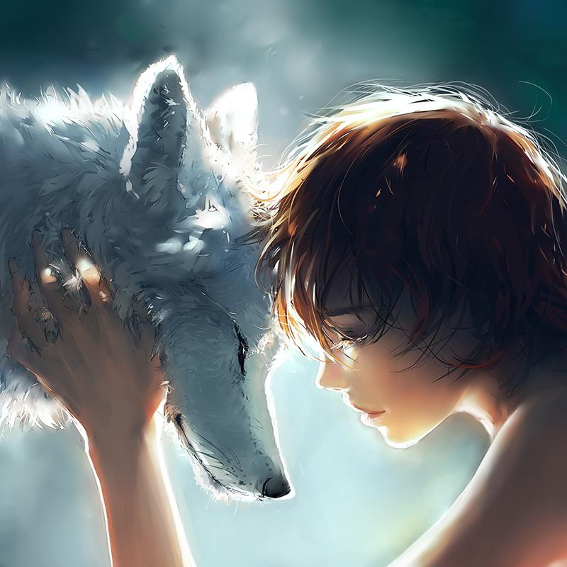 Рисунки парень с волком