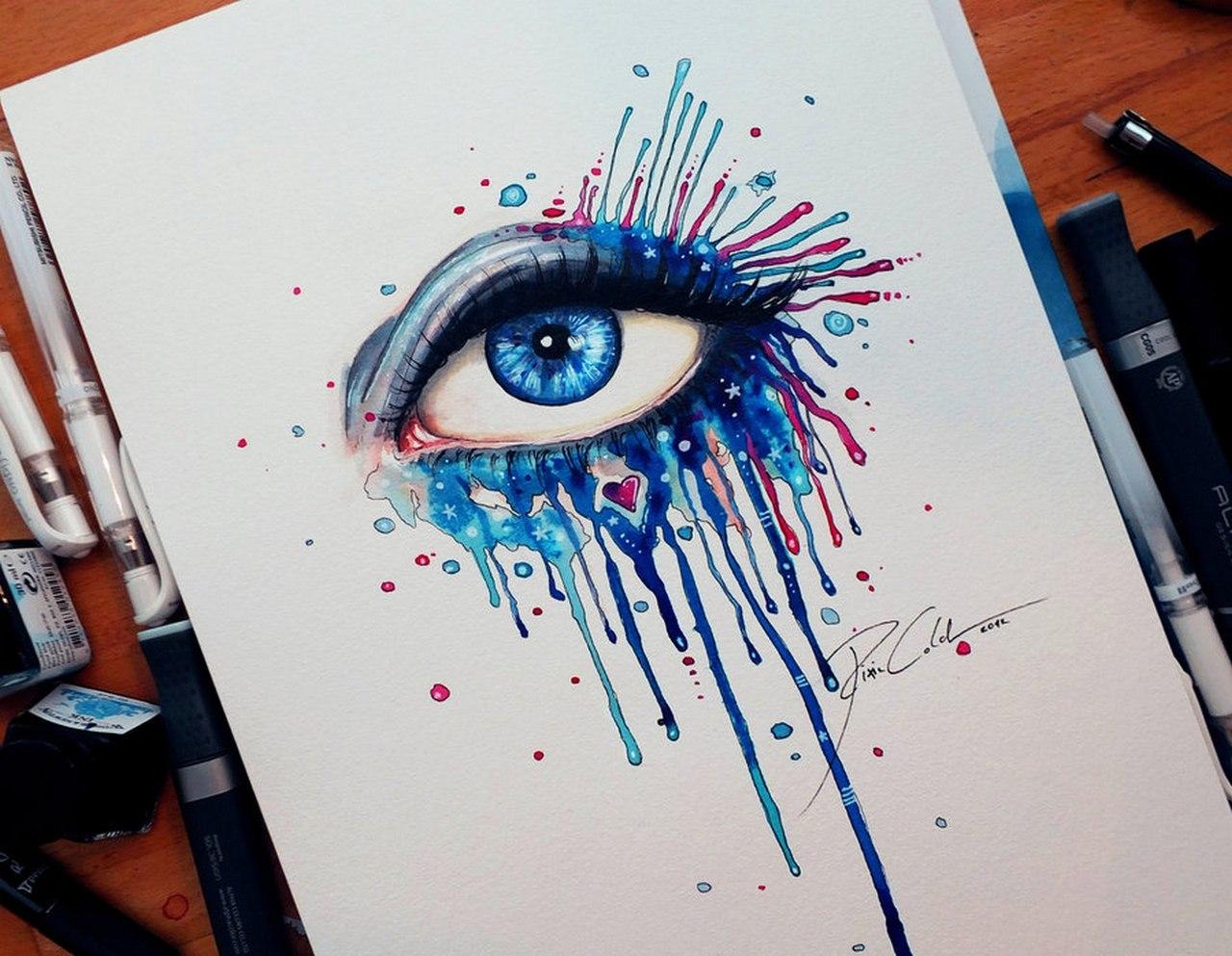 Картинка рисовать карандашом и красками