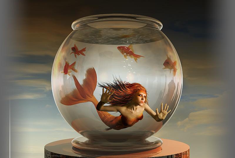 Русалки в аквариуме картинки