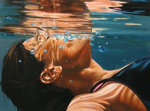 Рисунок смотрящая в воду
