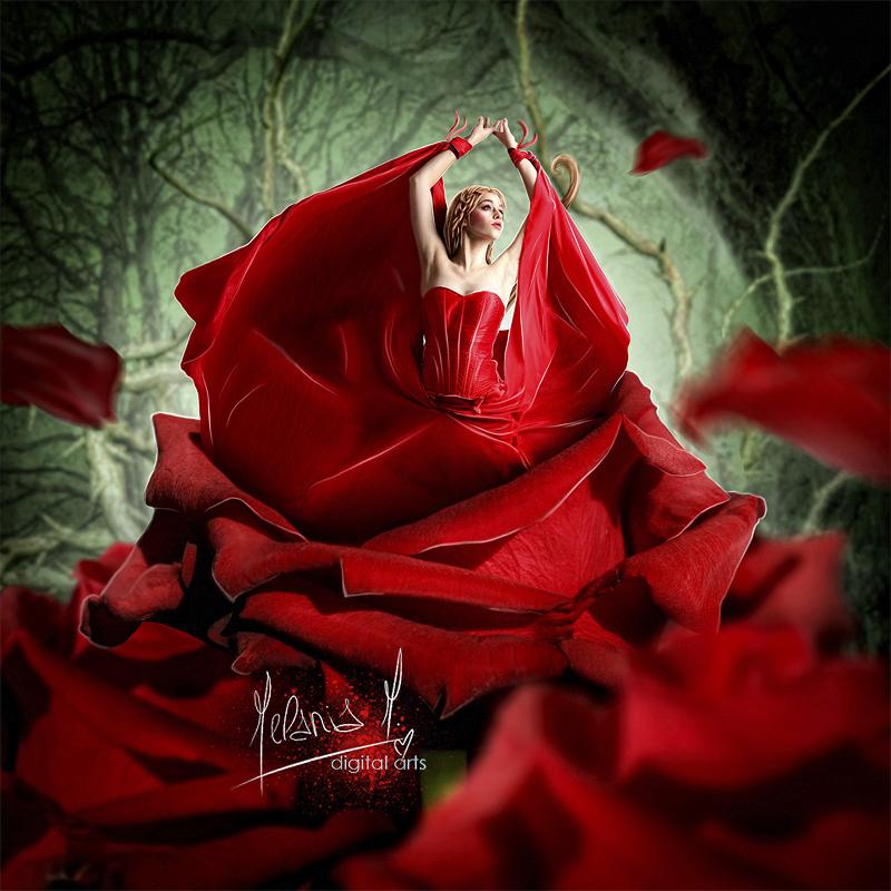 девушка в красном платье порно фото