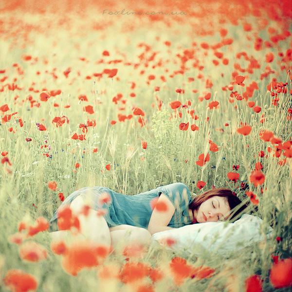 настолько сон девушка с цветами день
