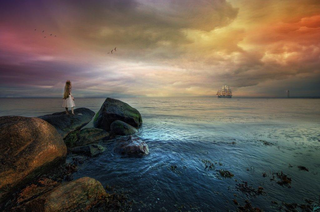 забудьте картинка ждет на берегу моря любви
