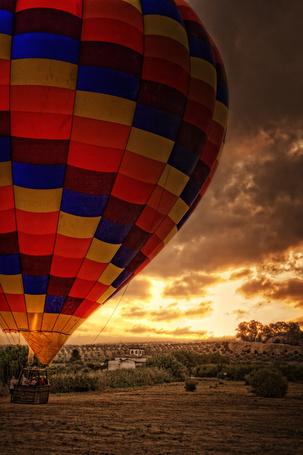 Фото Воздушный шар на фоне красивого неба
