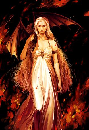 Фото Арт на Dayeneris Targaryen / Дайенерис Таргарие (Мать драконов), сериал Game of Thrones / Игра престолов