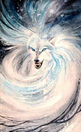 Фото Волк с оскаленной пастью, превращающейся в вихрь (© chucha), добавлено: 08.06.2013 01:35