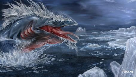 Фото Левиафан в ледяном океане, художник Vyrilien
