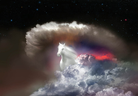 Фото Лошадь, появляющаяся из облаков, фотохудожник Игорь Зенин