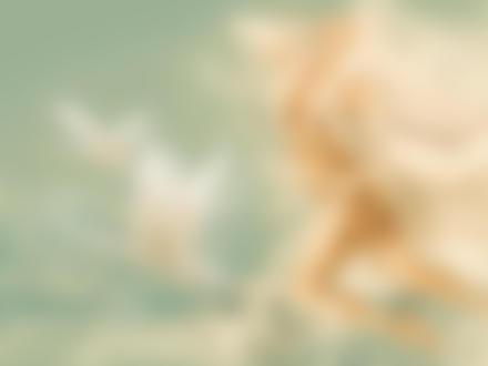 Фото Обнаженная девушка - ангел выпрыгивает из воды, рядом с ней летят два лебедя