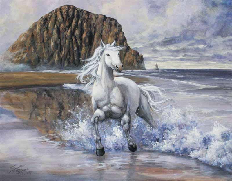 описанные лошадь бегущая по волнам картинка память