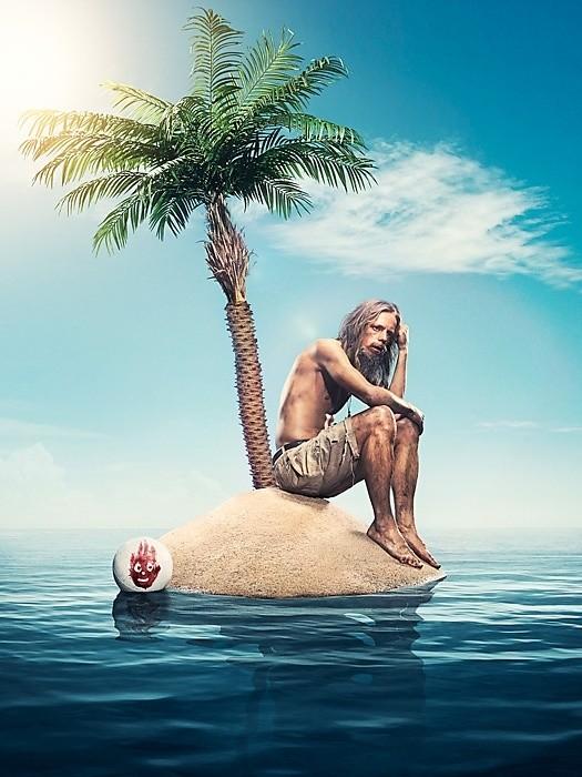для человек на острове жил с мячиком бельё должно