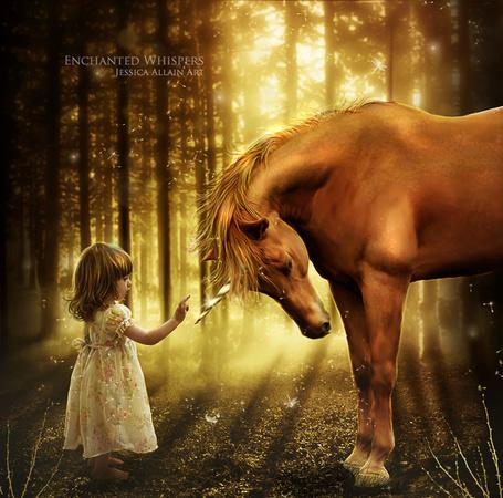 Фото дети лошади фэнтези (24 фото)
