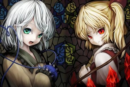 Фото Коиси Комэидзи / Koishi Komeiji и Фландре Скарлет / Flandre Scarlet из серии игр и аниме Тохо / Touhou