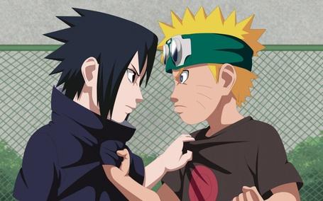 Фото Саске Учиха / Sasuke Uchiha и Наруто Узумаки / Naruto Uzumaki (© Челкастая Анимешница), добавлено: 07.07.2013 09:56