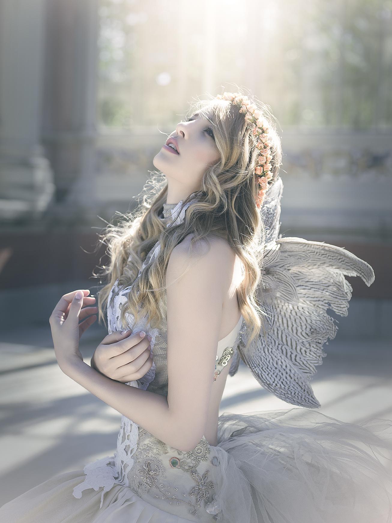 снабдить натяжной красивые фотографии ангела всегда могут
