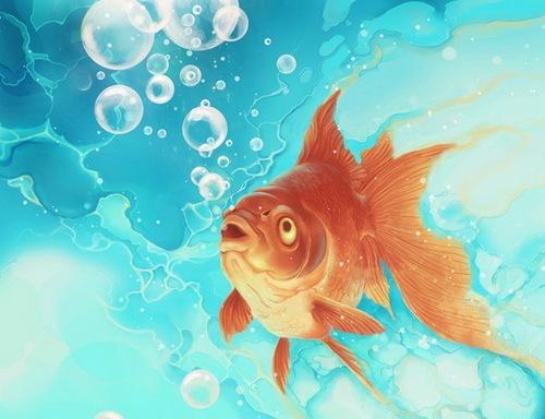 Картинки с нептуном и золотой рыбкой