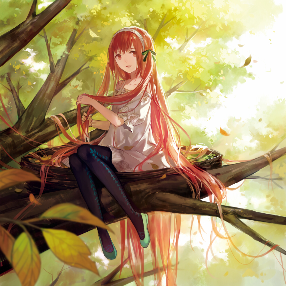 Картинки аниме рыжеволосых девушек