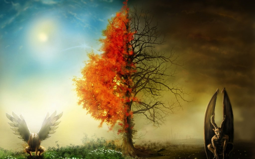 Без листьев темным пасмурным небом