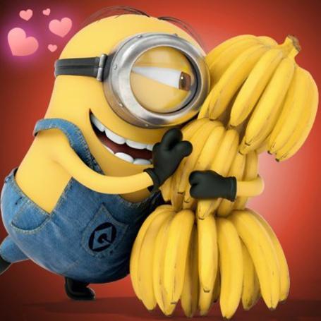 Фото Миньон с бананами из мультфильма Гадкий Я / Despicable Me