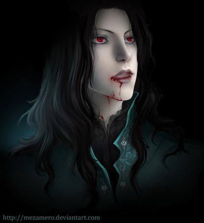 Фото Темноволосый вампир с окровавленными губами, художник MEZAMERO (© chucha), добавлено: 15.08.2013 00:18
