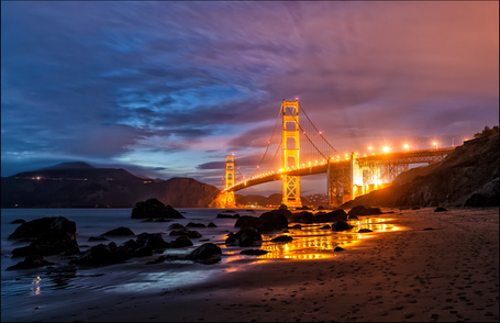 Мост золотые ворота рисунки