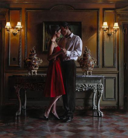 Фото Мужчина танцует с девушкой в зале, художник Rob Hefferan / Роб Хефферан