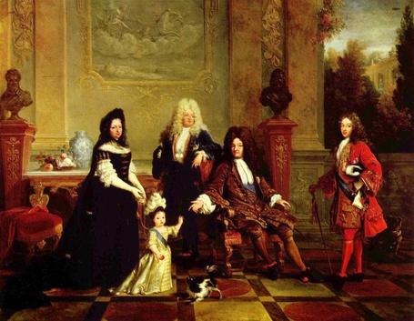 Фото Король Франции Людовик XIV Великий / Louis XIV Le Roi Soleil с семьей, художник Никола де Ларжильер / Nicolas de Largilliеre