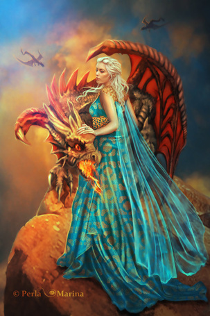 Фото Арт на Dayeneris Targaryen / Дайенерис Таргариен, сериал Game of Thrones / Игра престолов, автор PerlaMarina