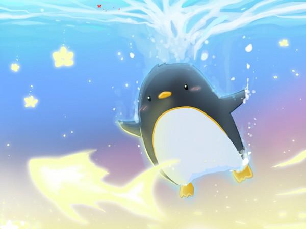 Фото пингвин плавает под водой