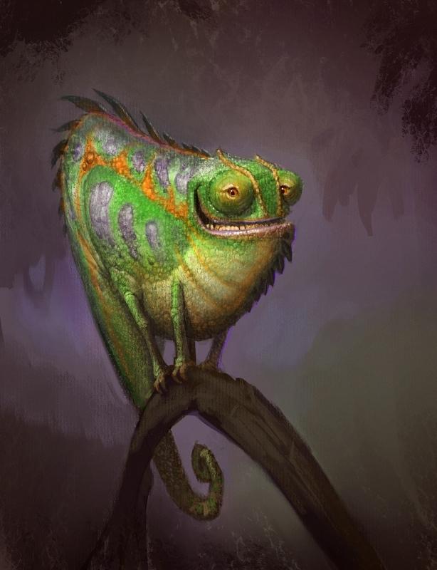 Ящерица смешной рисунок