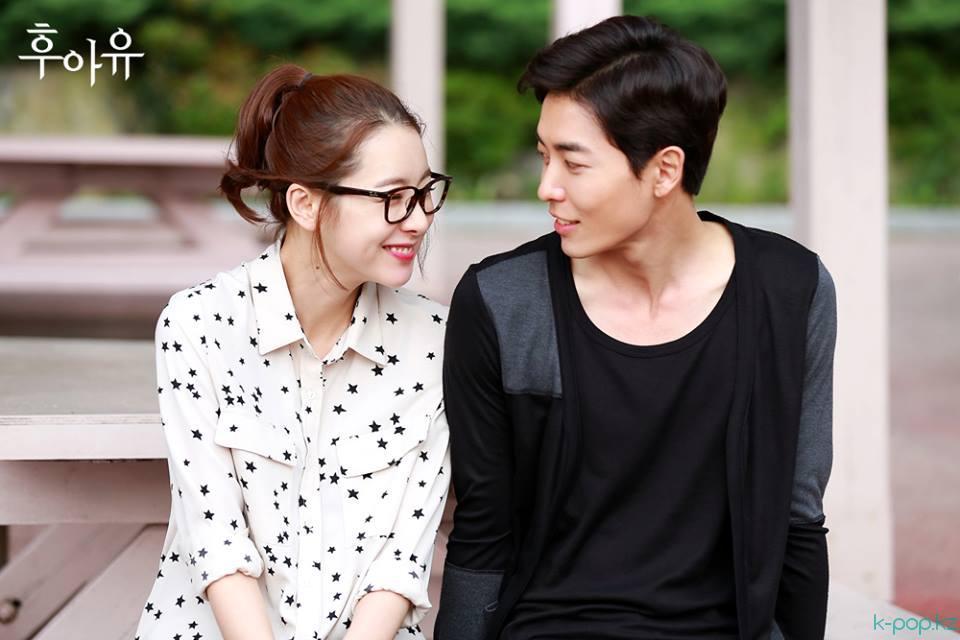 Фото Корейские актеры Со И Хен и Ким Чжэ Уком / So Yi Hyun, Kim Jae Wook на съемках фильма-драмы Кто ты? / «Kim sən?