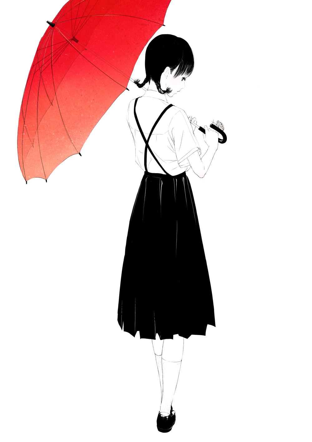 Девушка с зонтом картинки черно, своими руками воспитателям