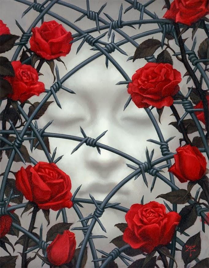 Колючая роза рисунок