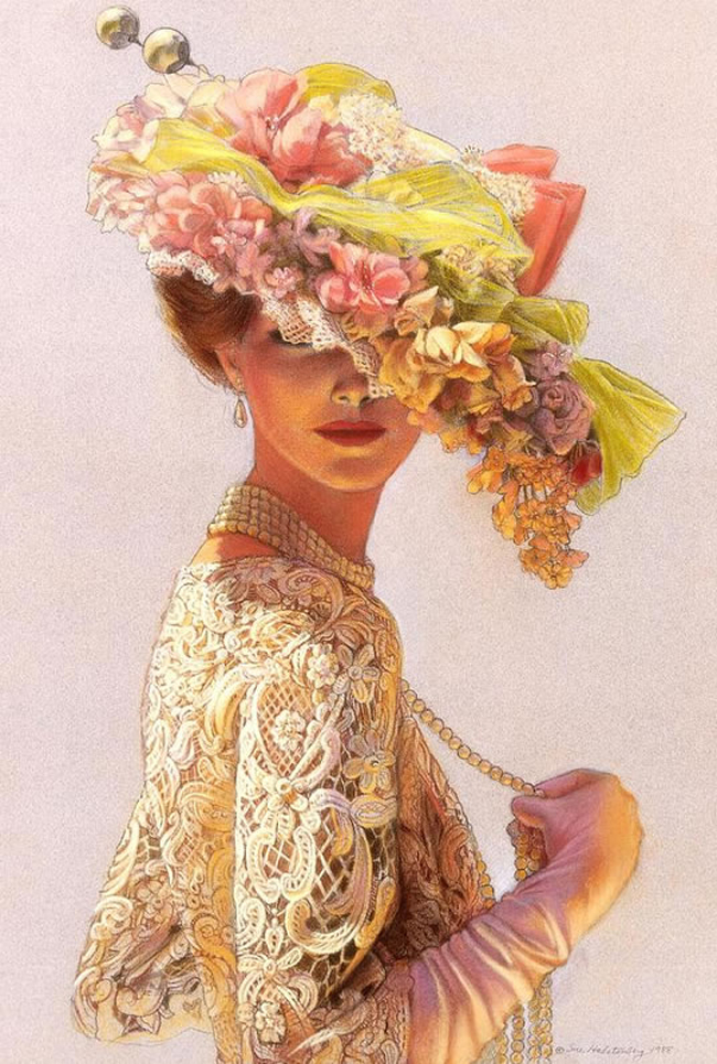 Девушка брюнетка на аву с цветами 135