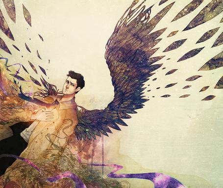 Фото Ангел Кастиель из сериала Сверхъестественное / Supernatural, художник kaiser-mony