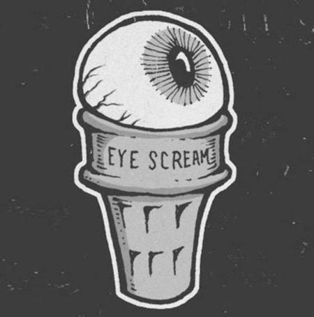 Фото Глазное яблоко в стаканчике из-под мороженного (Eye scream / Крик глаза)
