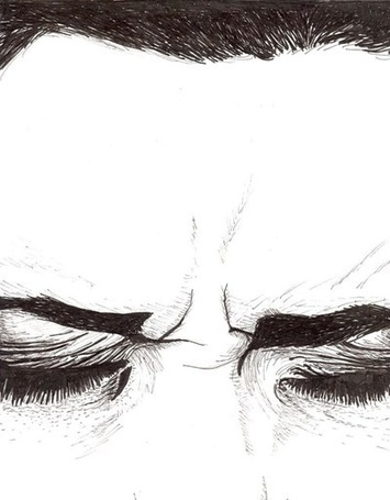 Фото Хмурое лицо девушки с закрытыми глазами