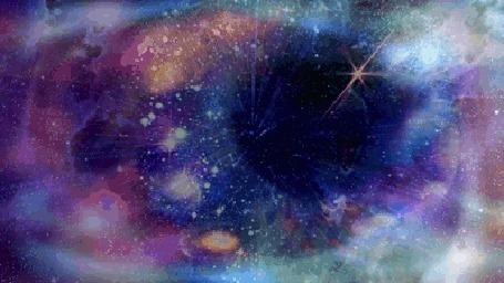 Фото Космос в глазу у девушки