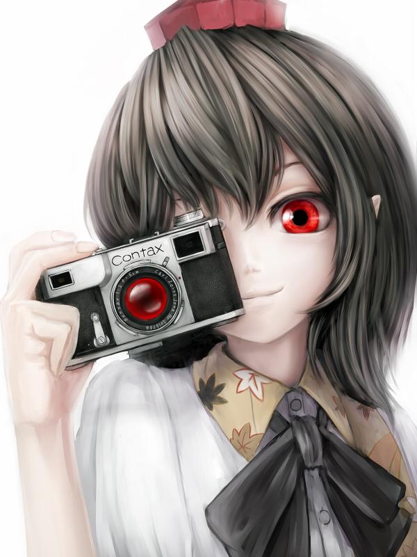Картинка аниме девушка с фотоаппаратом
