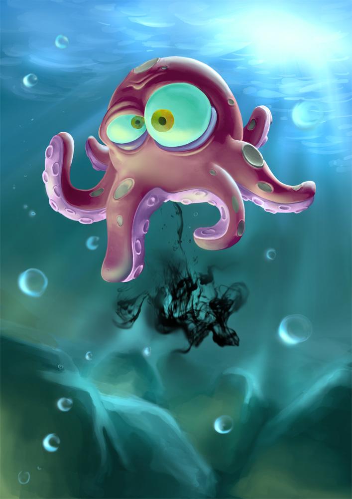 Смешные, картинки прикольных осьминогов