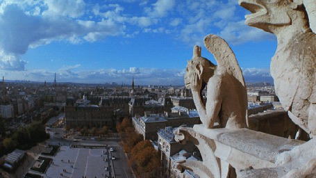 Фото Вид с Собора Парижской Богоматери / Notre Dame de Paris на Париж, Франция / Paris, France