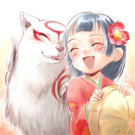 Фото Amaterasu / Аматерасу и Camellia / Камелия из игры Okami