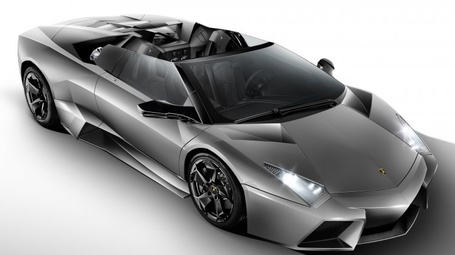 Фото Спортивная серая машина Lamborghini Reventon Roadster