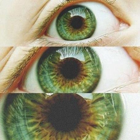 Фото Зеленый глаз в приближенном виде
