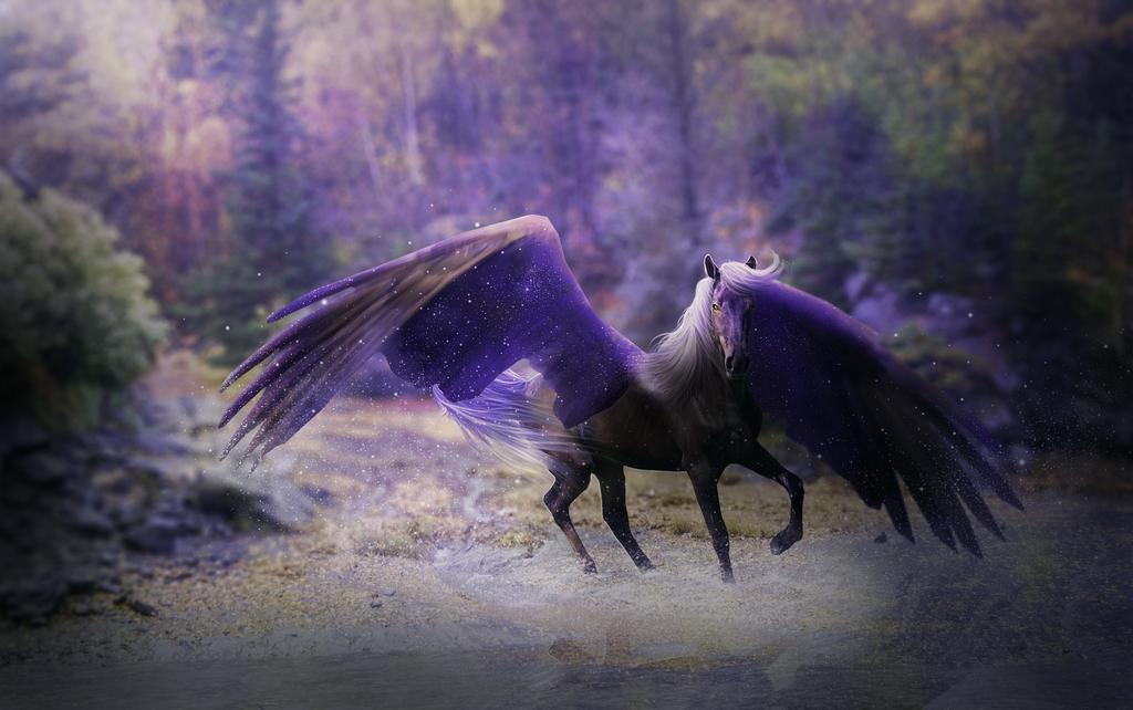 фото единорога с крыльями согласно законам флористики